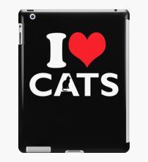 Cute Funny I Love CATS iPad Case/Skin