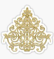Golden pattern on burgundy red Sticker