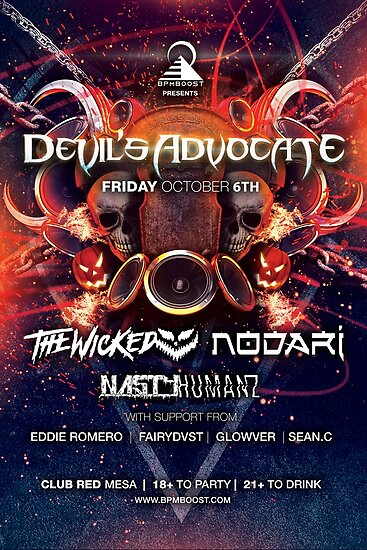 BPMBoost Presents: Devil's Advocate 2017 - Poster by BPMBoost