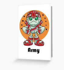 """Robobot """"Off to Mars"""" / Three / Robot Army Greeting Card"""