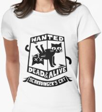 Schrodinger's cat is dead and alive Women's Fitted T-Shirt