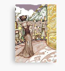 Planet XYZ : Colour version [Pen Drawn Fantasy Figure Illustration] Canvas Print