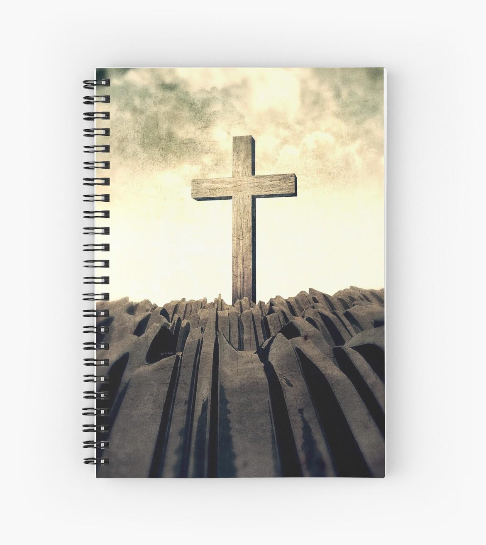 Christian Cross On Mountain by morningdance