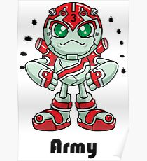 "Robobot ""Off to Mars"" / Three / Robot Army Poster"