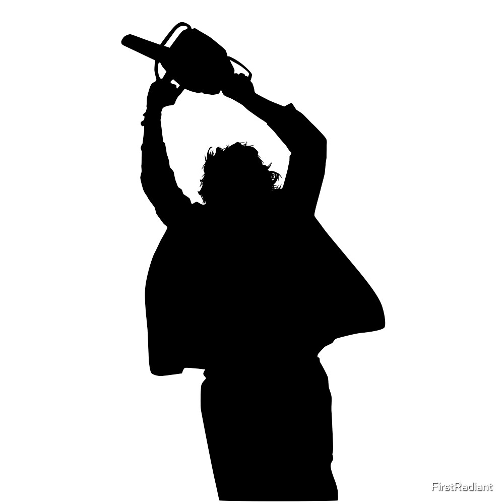 Chainsaw massacre silhouette by FirstRadiant