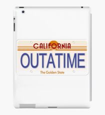 Outatime California State License Plate iPad Case/Skin