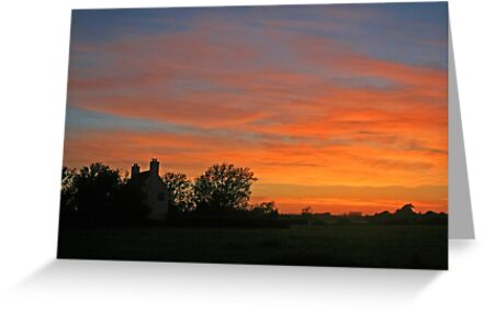 Sunset on the Levels by RedHillDigital