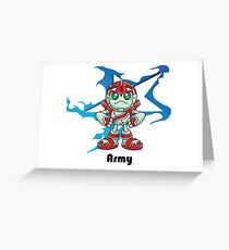 """Robobot """"Off to Mars"""" / Three / Robot Army Star Greeting Card"""