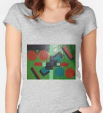party of shapes Women's Fitted Scoop T-Shirt
