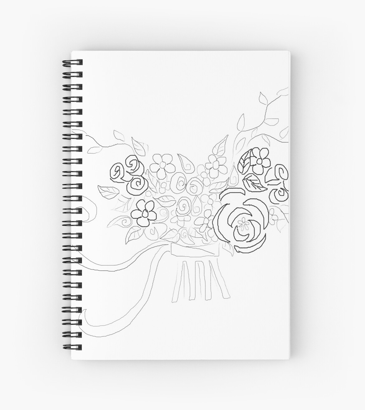 Wedding flower bouquet 2 - Line Drawing\