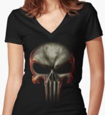 Death T-shirt col V femme