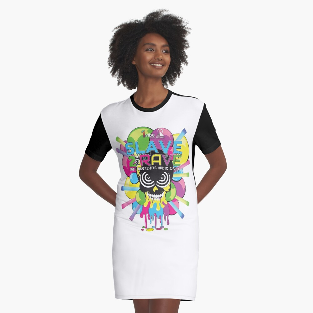 BPMBoost Presents: Slave to the Rave Graphic T-Shirt Dress