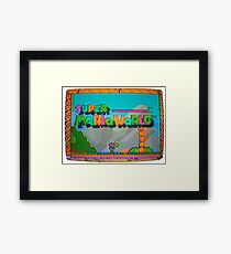 SUPER MARIOWORLD Framed Print
