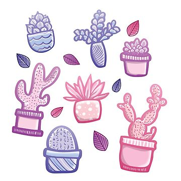 Pastel Plants by haleydevers