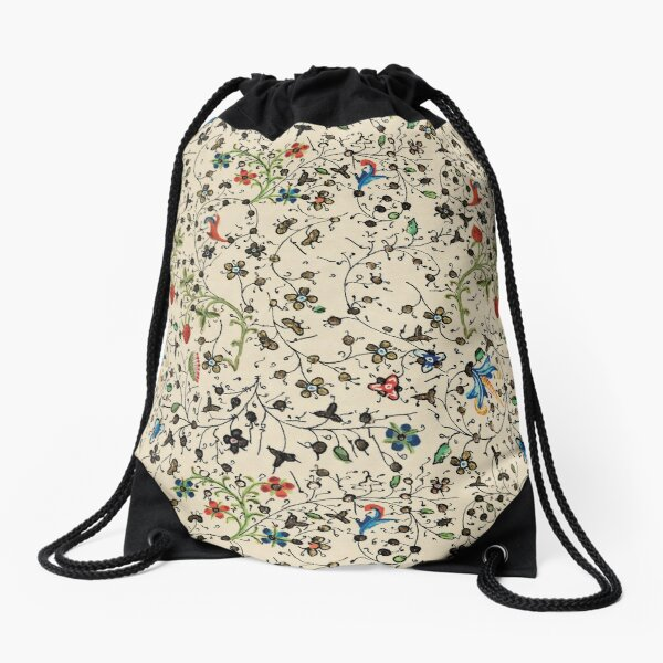 Medieval floral pattern – State Library Victoria Drawstring Bag