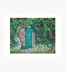 Vineyard Door Art Print