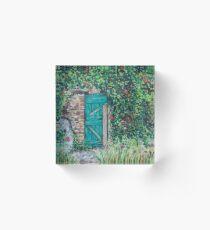 Vineyard Door Acrylic Block