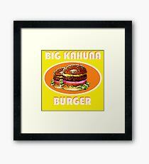 BIG KAHUNA BURGER / AS SEEN ON PULP FICTION retro Framed Print
