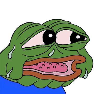 El pepe preocupado expulsa el líquido de su cara nerviosamente de ChanTees