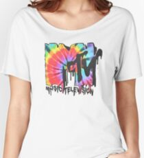 MTV Tie Dye Women's Relaxed Fit T-Shirt