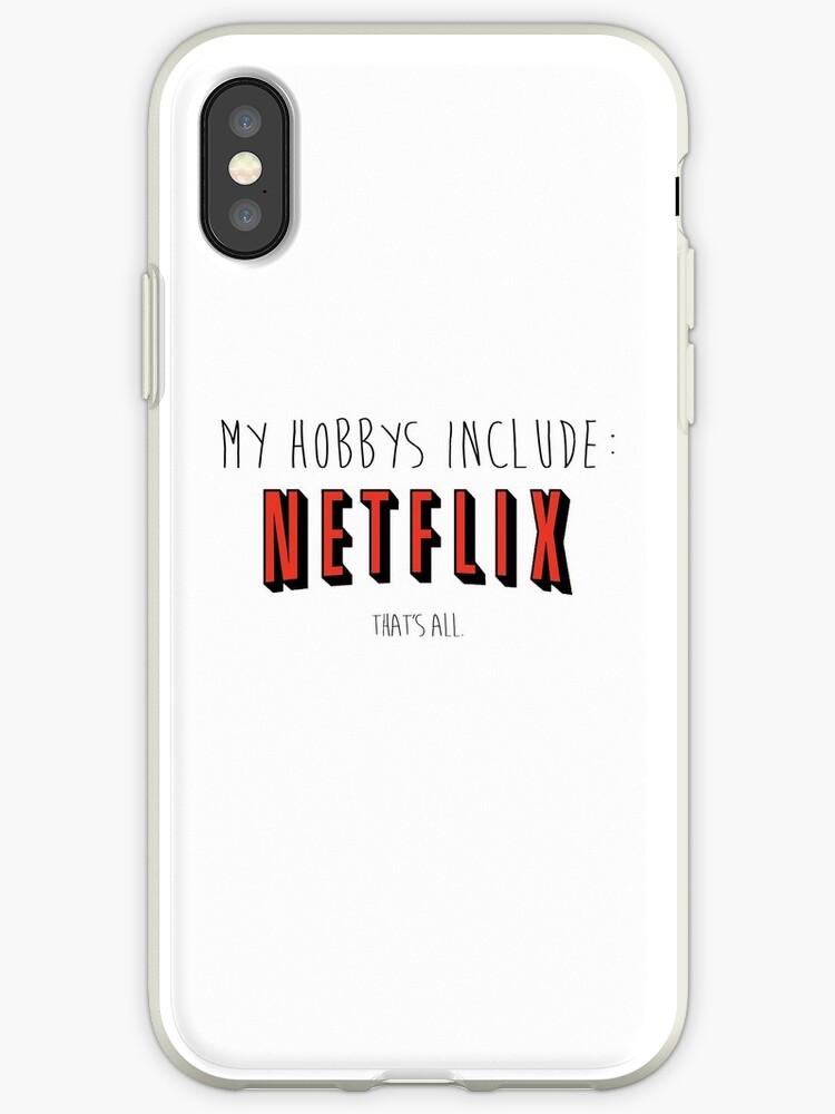 super popular 4841b f2080 'Netflix Hobby' iPhone Case by dazzamclean