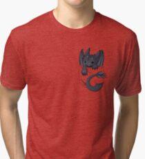 Camiseta de tejido mixto ¿Es eso un dragón en tu bolsillo?
