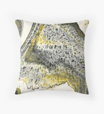 A Meditation on Black and Yellow Throw Pillow