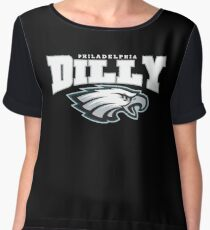 DILLY DILLY Philadelphia Eagles Chiffon Top