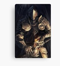 Knight Drawing Sword Canvas Print
