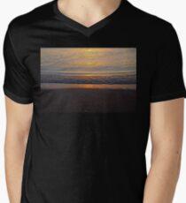 Beach Sunset Abstract Men's V-Neck T-Shirt