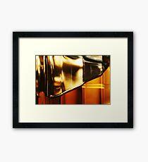 Abstract Glass Macro #24 Framed Print