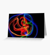 abstract light 2 Greeting Card