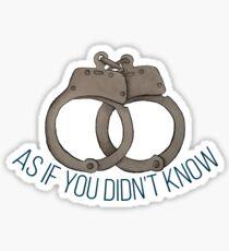 Handcuffs are Canon Sticker