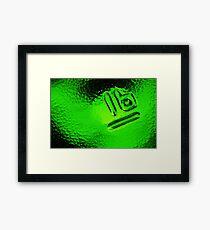 Abstract Glass Macro #30 Framed Print
