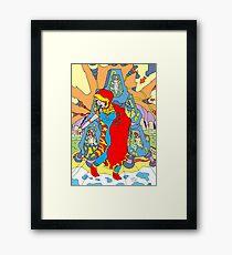 Suspension  [Pen Drawn Fantasy Figure Illustration] Framed Print