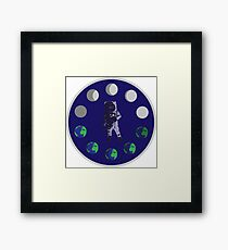 Phases Space Emblem Framed Print