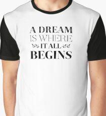 Success, Goals, Dreams, Goals, Attitude Motivational Quote Graphic T-Shirt