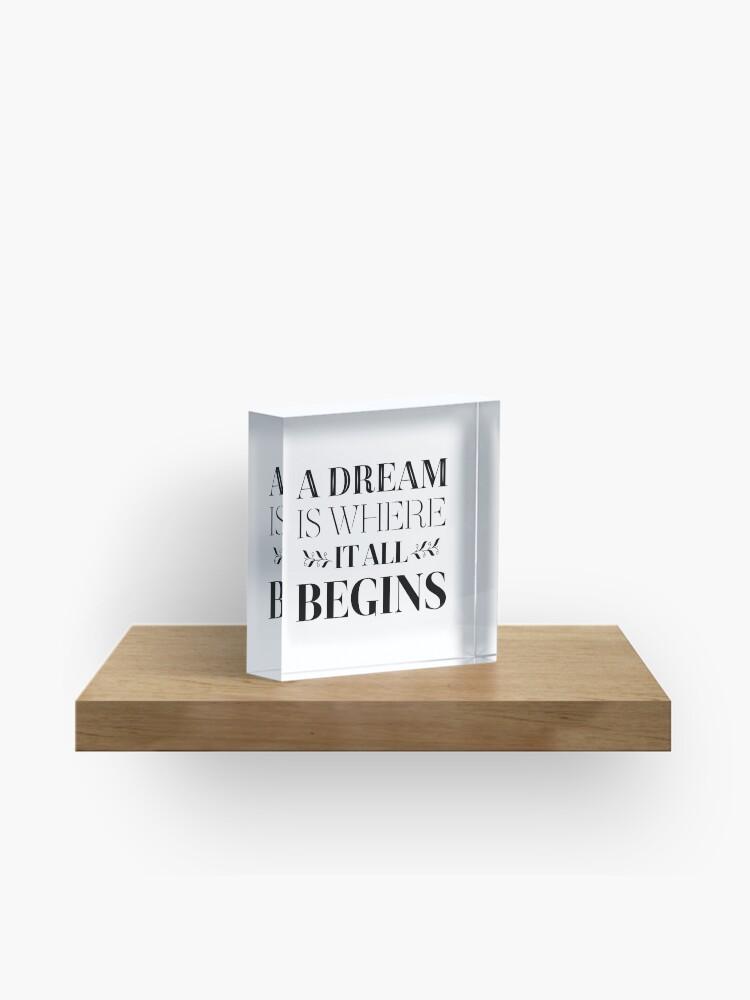 Erfolg Ziele Träume Ziele Haltung Motivierend Zitat Acrylblock