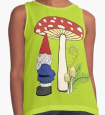 Gnome and Toadstool, Chartreuse  Contrast Tank