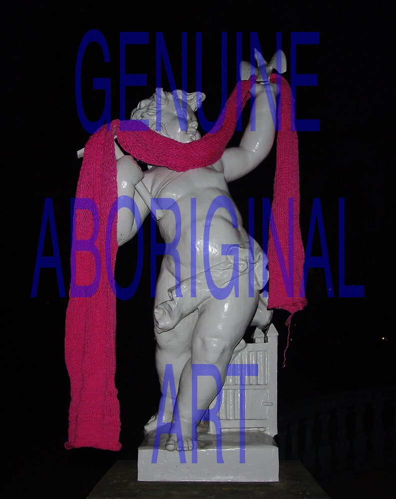 Genuine Aboriginal Art (Pole 8 as a scarf) (2008) by Troy-Anthony Baylis