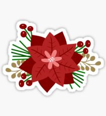 Red Flowers and Berries Sticker