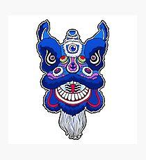 Chinese lion head dance.  Photographic Print