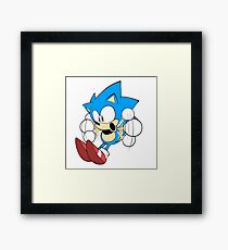 Sonic the Hedgehog Whoa! Framed Print