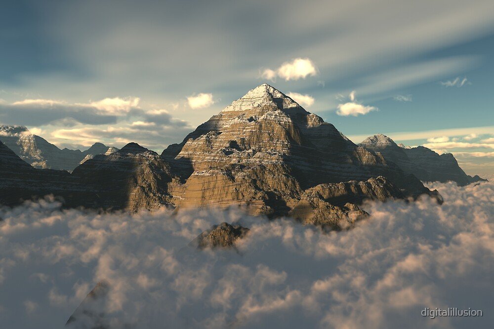 Cloud mountain by digitalillusion