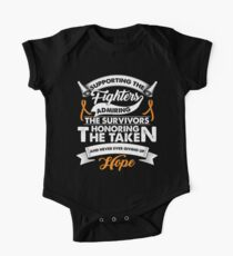 Supporting The Fighters Leukemia Cancer TShirt Orange Ribbon Kids Clothes
