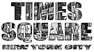 Times Square New York City (B&W lettering) by Ray Warren