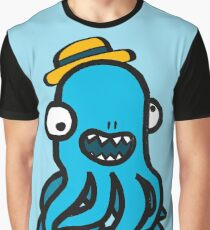 Octopus Joe with a Hat Graphic T-Shirt