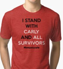 I stand with carly and all survivors Tri-blend T-Shirt