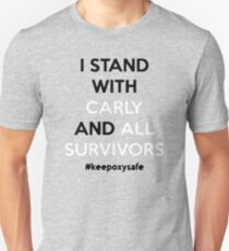 I stand with carly and all survivors Unisex T-Shirt