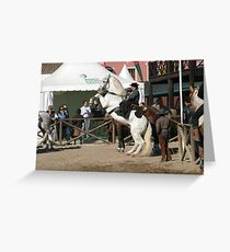 Portuguese Rider II Greeting Card